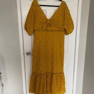 ASOS boho lace maxi dress